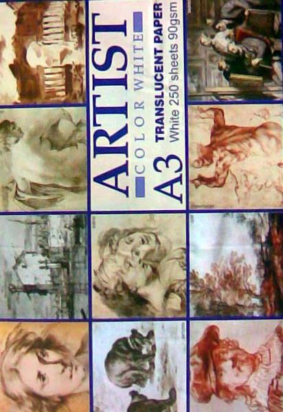 Hartie calc Artist, format A3, 90 g/mp